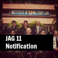 JAG Judge Advocate General Entry Scheme 11th Notification