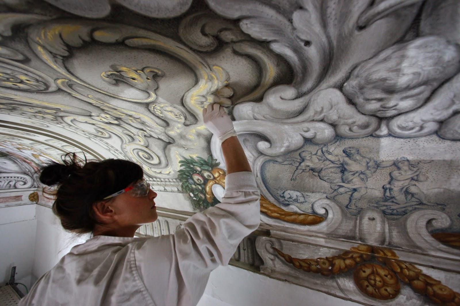 Restauraci n de obras de arte la pintura mural parte 1 for 5 tecnicas de la arquitectura