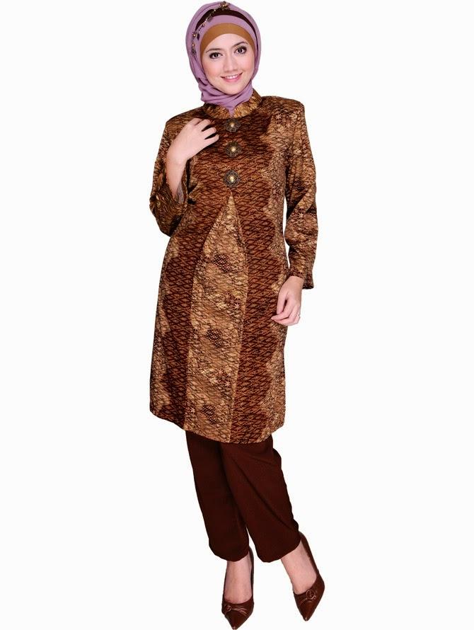 Baju Muslim Terbaru 2014: Baju Batik Modern