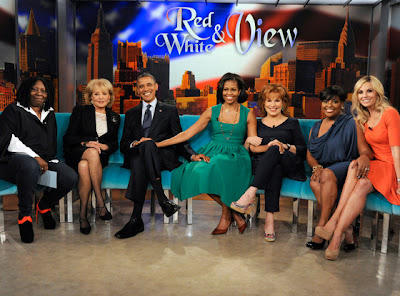 Obamas with The View co-hosts