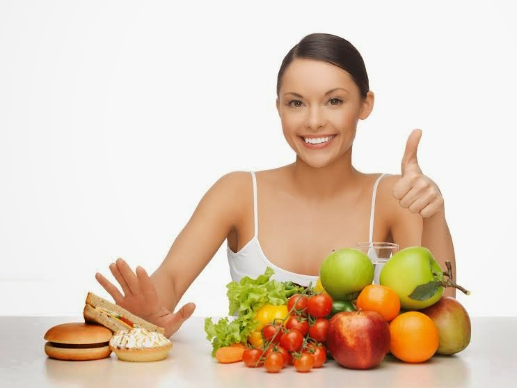 healthy person in a healthy diet