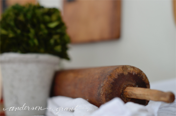 Rustic wood rolling pin