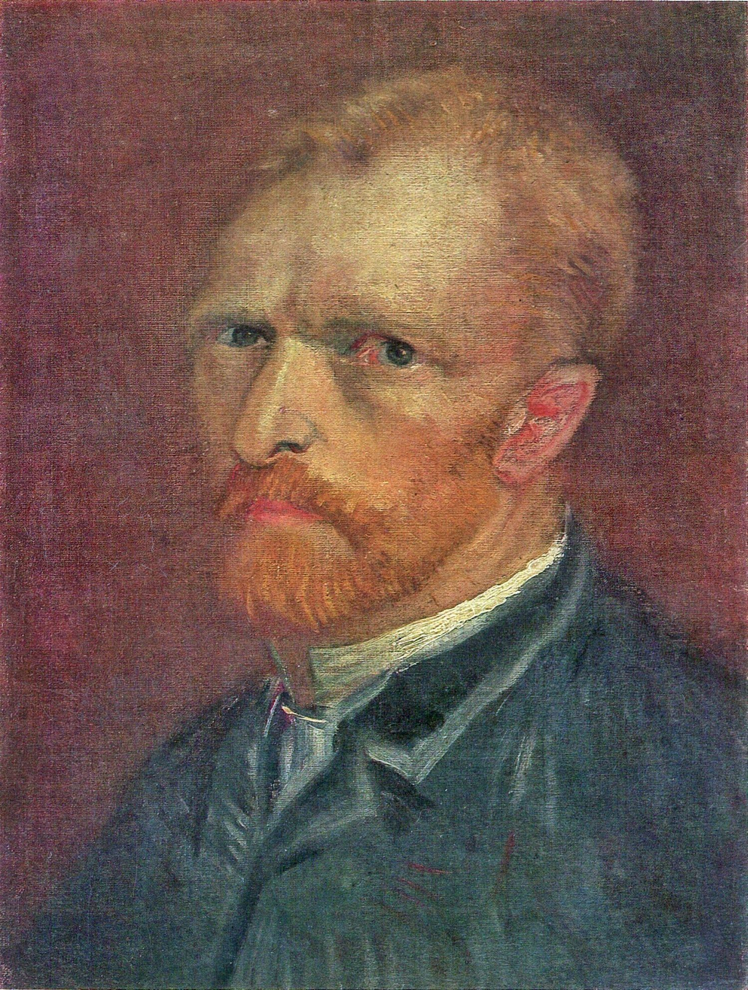 Self-Portrait of Vincent van Gogh (F 178v, JH 1198) Painted in Paris, Autumn, 1886