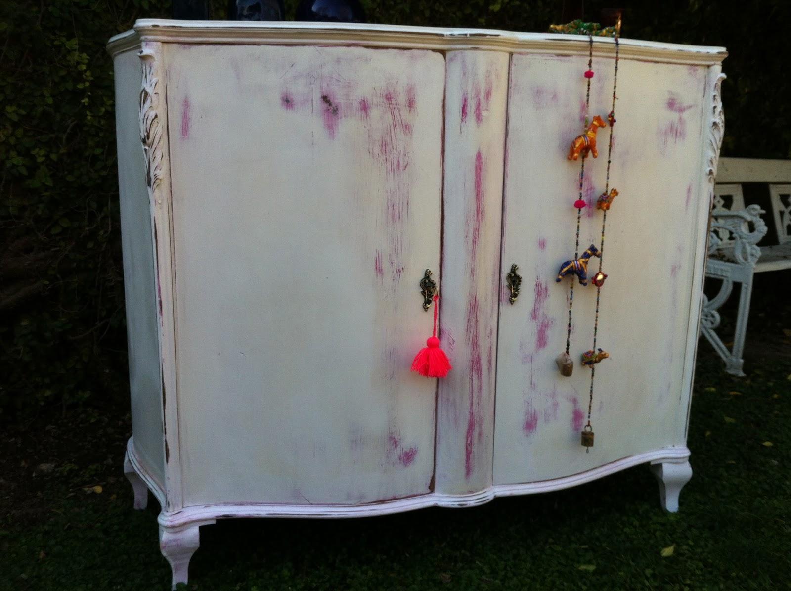 Vintouch muebles reciclados pintados a mano - Mueble provenzal blanco ...