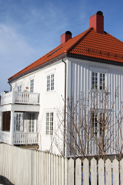 Et romantisk hvitt hus