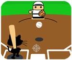 Game mèo chơi bóng chày.