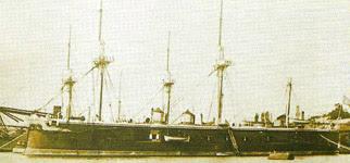 Suttan Abdülaziz Han tarafından İngiltere 'de 1874 yılında inşâ ettirilen Mesudiye zırhlı firkateyni