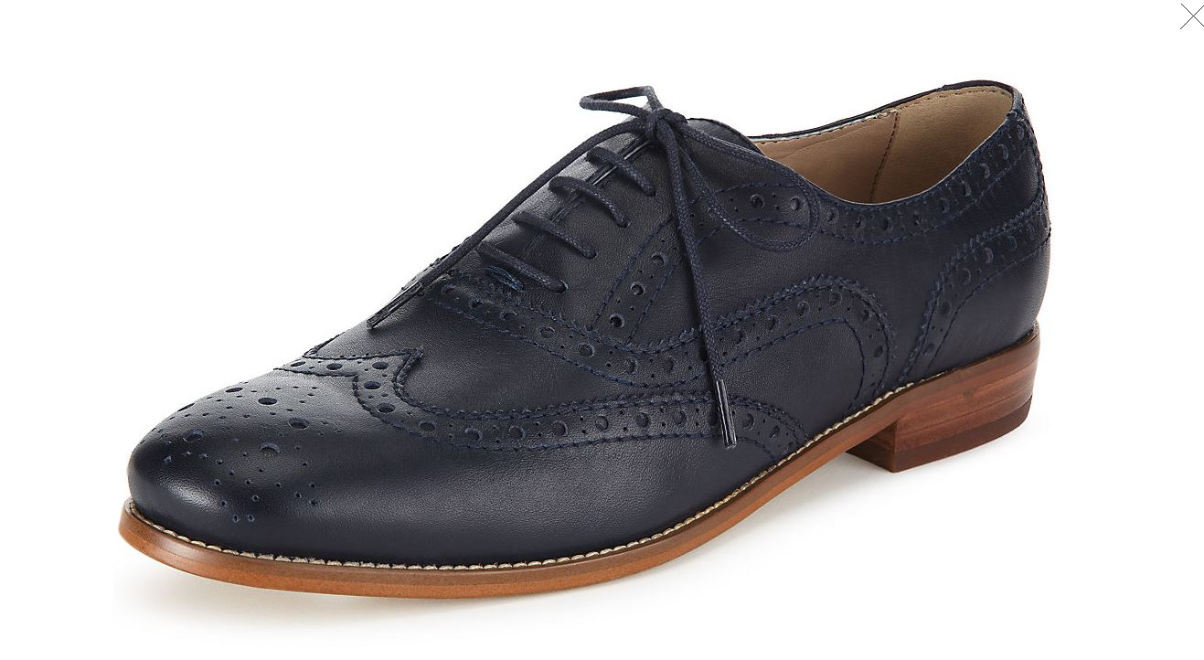 M&S Navy Brogue