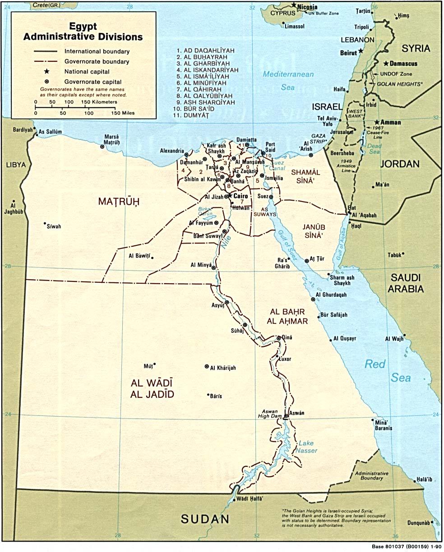 1 mapa egipto: