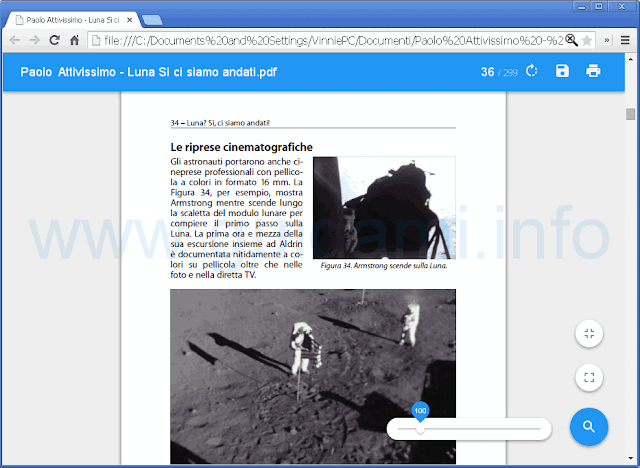 Lettore PDF Chrome con grafica material design