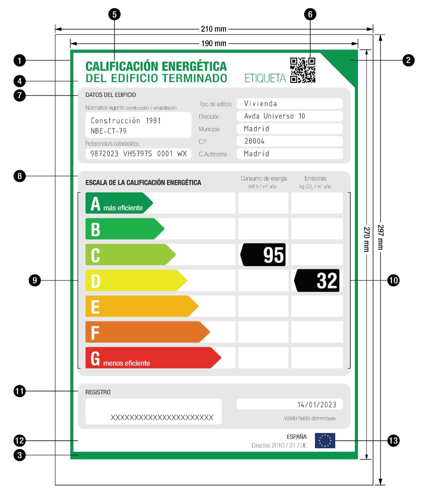 Etiqueta Eficiciencia Energética