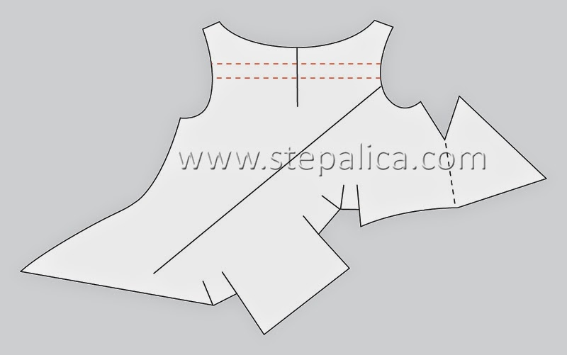 Štepalica: Pattern alterations for the knotted dress