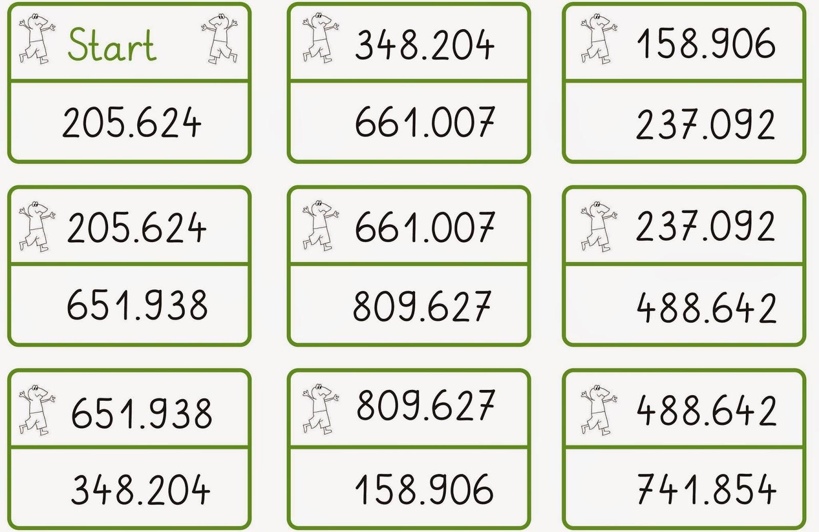 Lernstübchen: Zahlenlesespiel bis 1 Million
