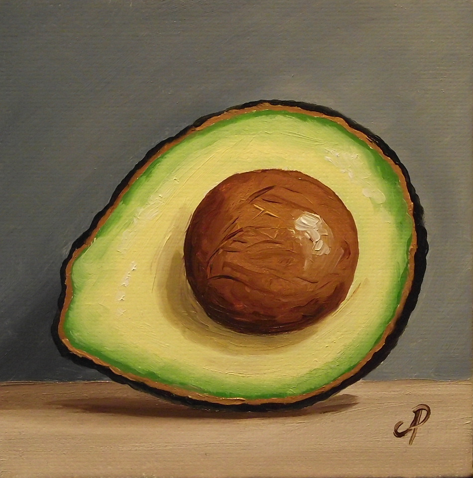 Jane Palmer Fine Art: Avocado! Whole, half & the other half