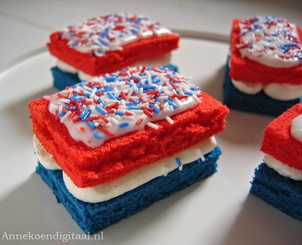 Rood wit blauwe cakejes Annekoendigitaal.nl