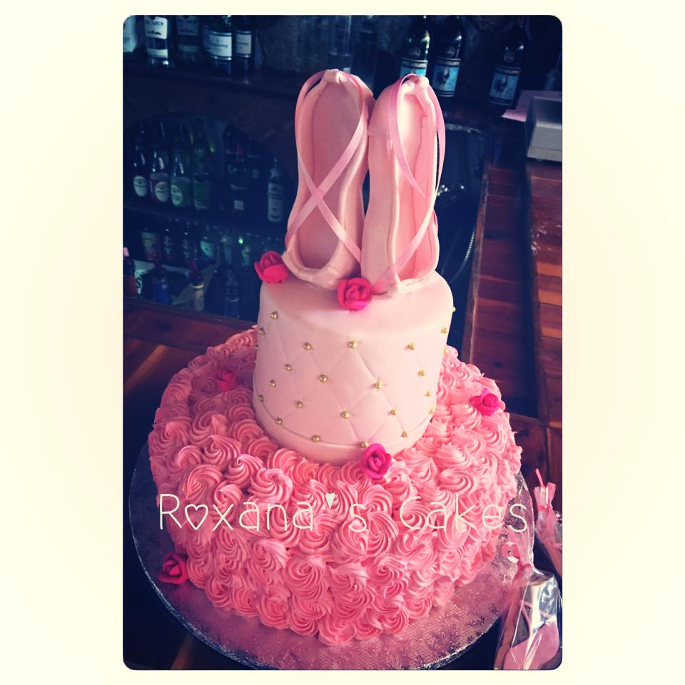 baking with roxana 39 s cakes baby shower ballerina themed cake