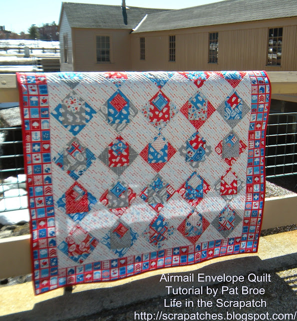 Life in the Scrapatch: My Airmail Envelope Quilt Wrap-up! : envelope quilt pattern - Adamdwight.com