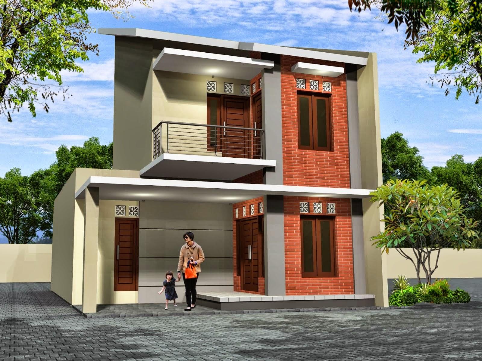 Contoh Gambar Desain Rumah Mungil 2 Lantai