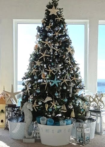 sea inspired Christmas tree