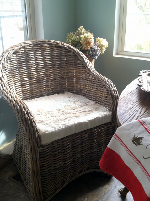 And Cover That Little Bench With This Gingham Fabric.