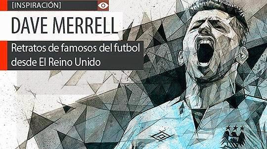 Retratos de famosos del fútbol de DAVE MERRELL.