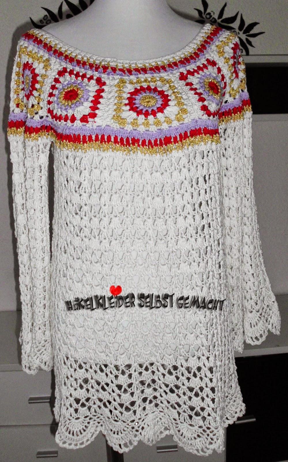 Häkelkleider selbst gemacht: Hippie Häkelkleid