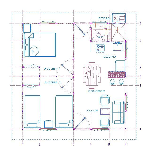 Plano casa de campo 122m2 planos viviendas gratis dise os for Plano casa campo