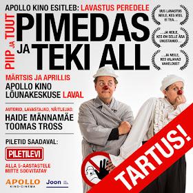 30.märts-1.aprill ja 7-8.aprill 2018 Tartus APOLLO KINOS Lõunakeskuses