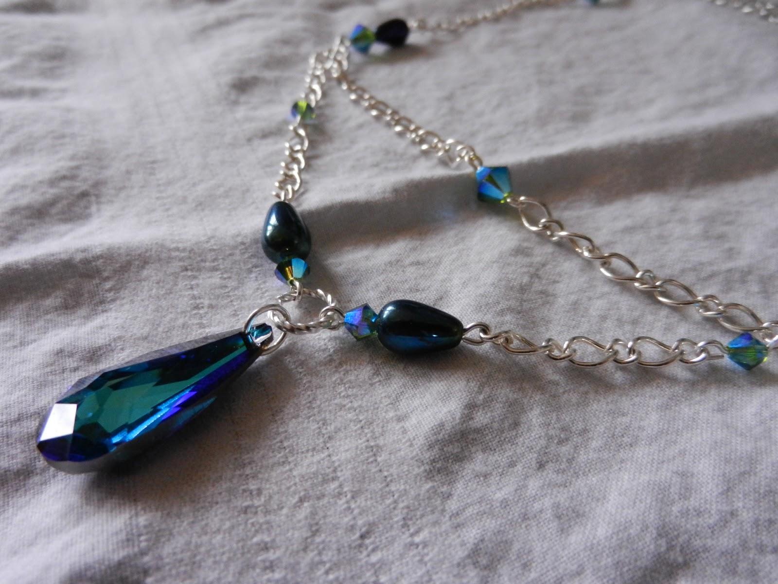 blue swarvoski necklace