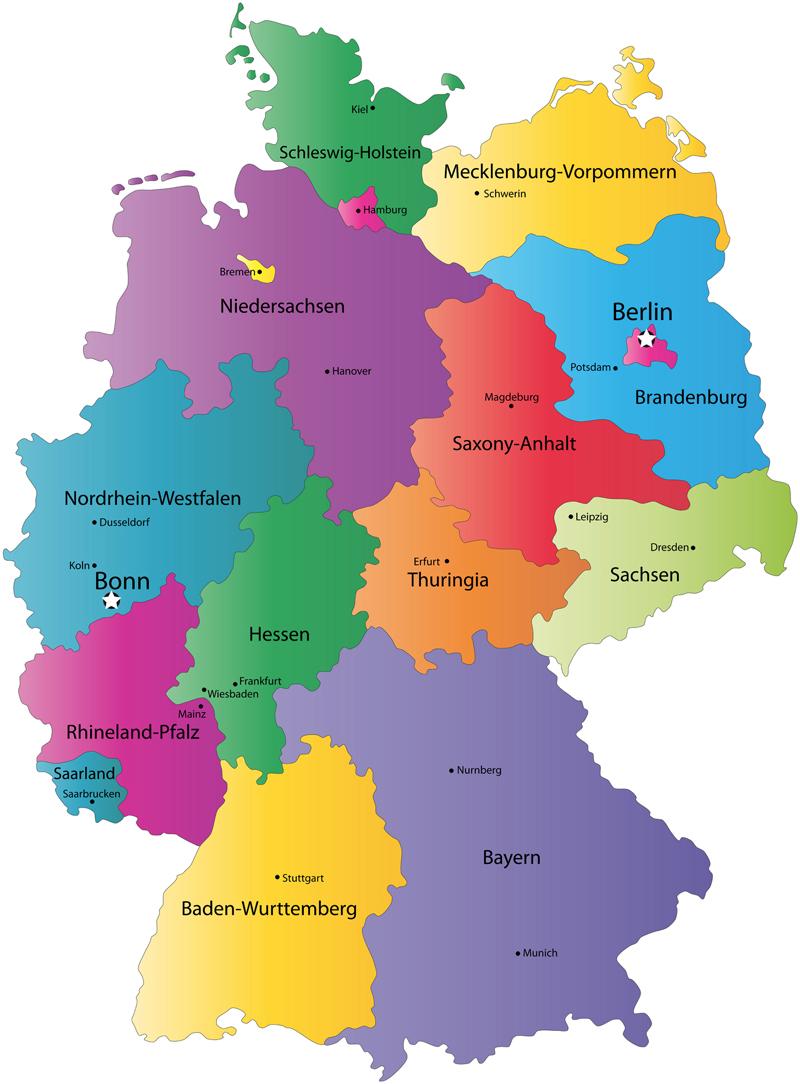 provinz karte von deutschland karte von deutschland stadt regionalen politisch. Black Bedroom Furniture Sets. Home Design Ideas