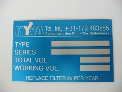 Aluminium geeloxeerde typeplaat