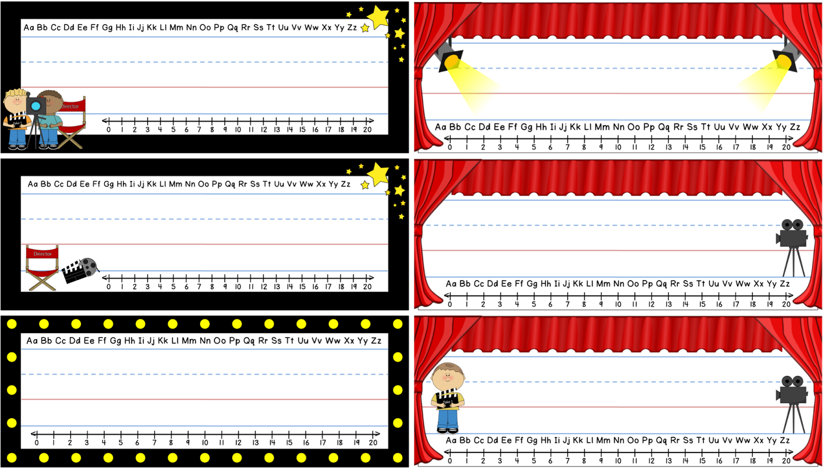 http://www.teacherspayteachers.com/Product/Freebie-Movie-Theme-Name-Plates-1382623