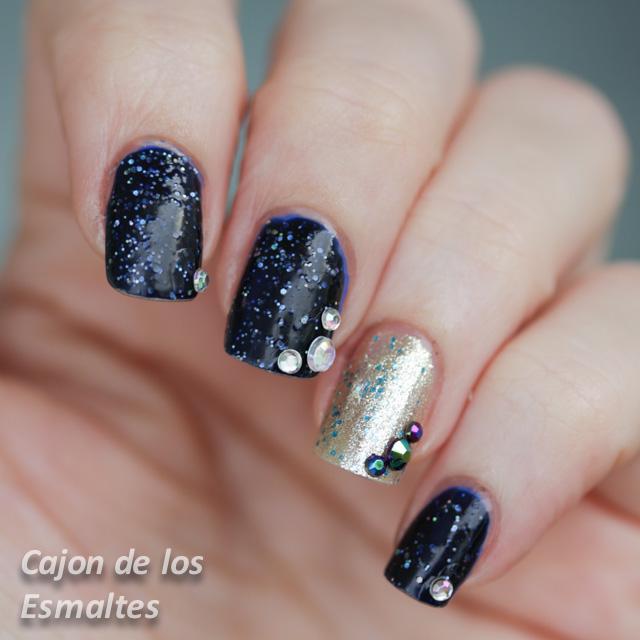decoracion uñas con strass o rhinestones