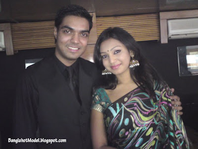 Bangladeshi model prova with husband rajib