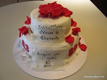 Sweetilary torta libro il ritorno for Decorazioni torte per 60 anni di matrimonio