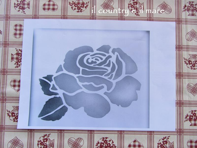 Il country e il mare tutorial stencil stoffa for Stencil da stampare per cucina