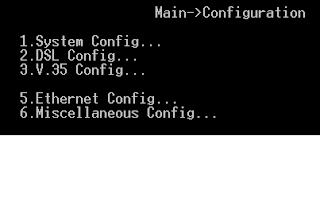 Từ Menu config có thể vào cấu hình giao diện DTE hoặc DCE