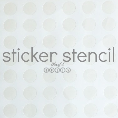 Sticker Stencil Art For Kids from Blissful Roots