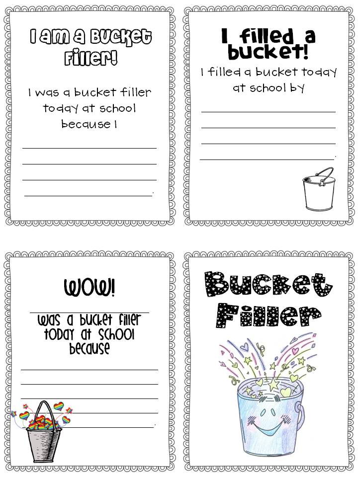 Bucket Fillers Printables The bucket filler brigade!
