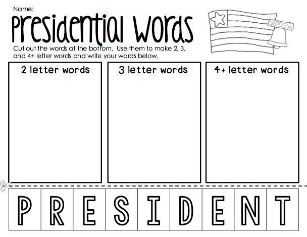 Ship Shape First Grade: President's Day Printables {Freebie!}