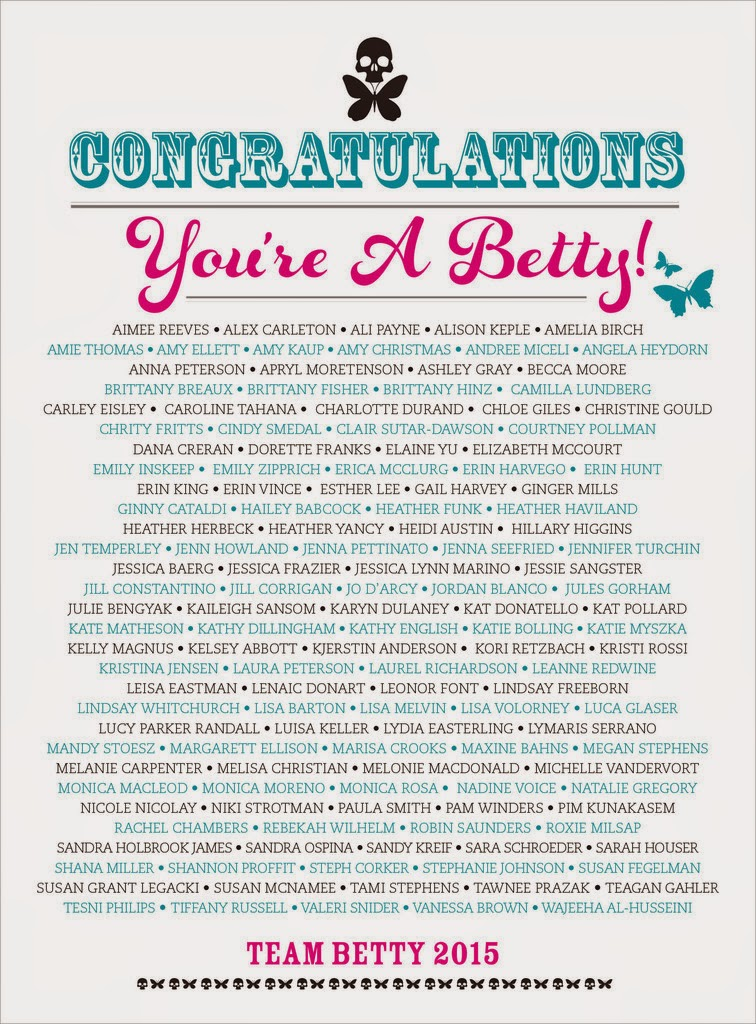 Team Betty 2015