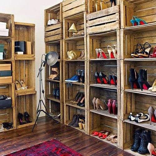 Ideas para ordenar los zapatos y decorar con ellos