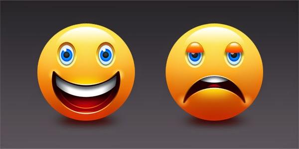 Happy and Sad Emoticons PSD