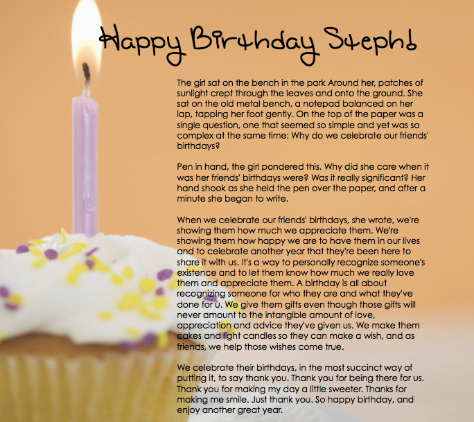 best birthday essay