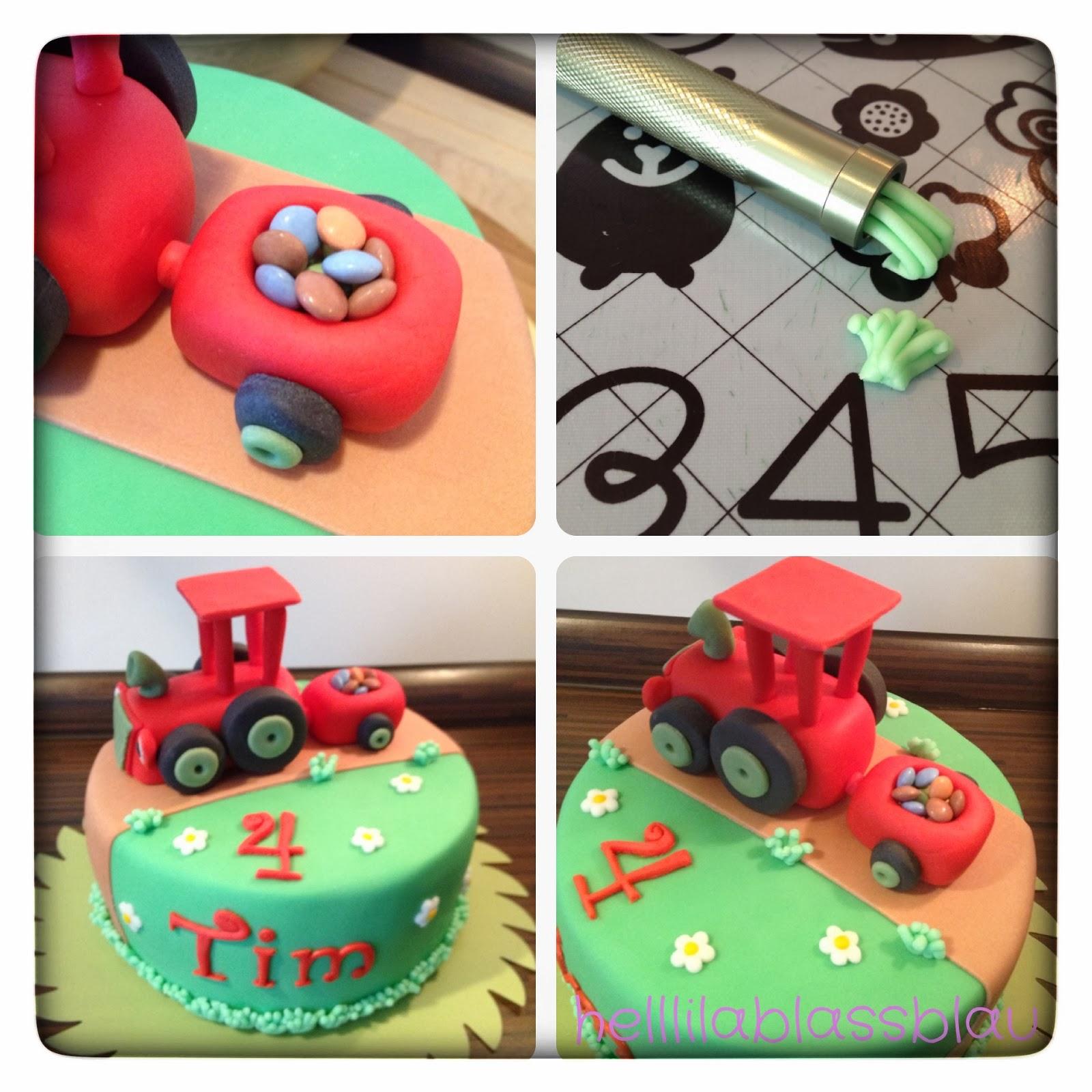 Torte traktor mit anhanger
