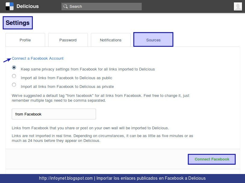 how to connect twitter account with facebook