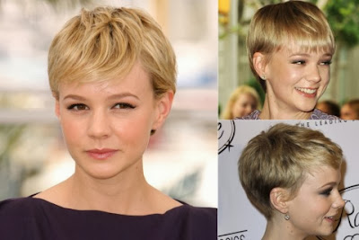 Carey Mulligan short haircut with bangs