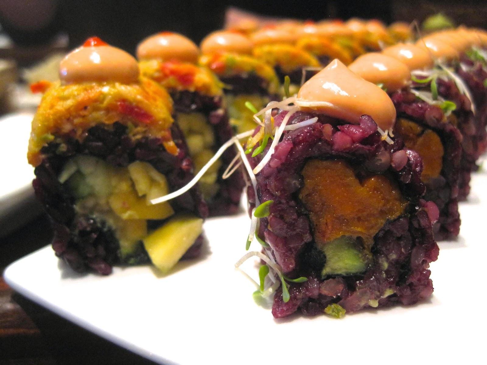 Spicy Mang & Sweet Tree Rolls - Beyond Sushi Vegan Blog Veega