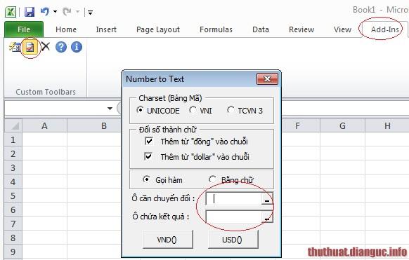 hàm vnd trong excel 2007 2010 2013 2003, Download VnTools 1.2.0 For Office 2007,