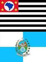As bandeiras dos cariocas e dos paulistas